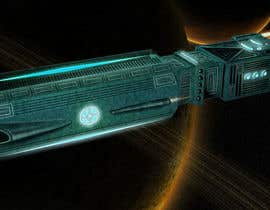 #12 for Concept Art for existing 3D space ship model for SciFi Game by yolid