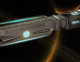 #14 for Concept Art for existing 3D space ship model for SciFi Game by yolid