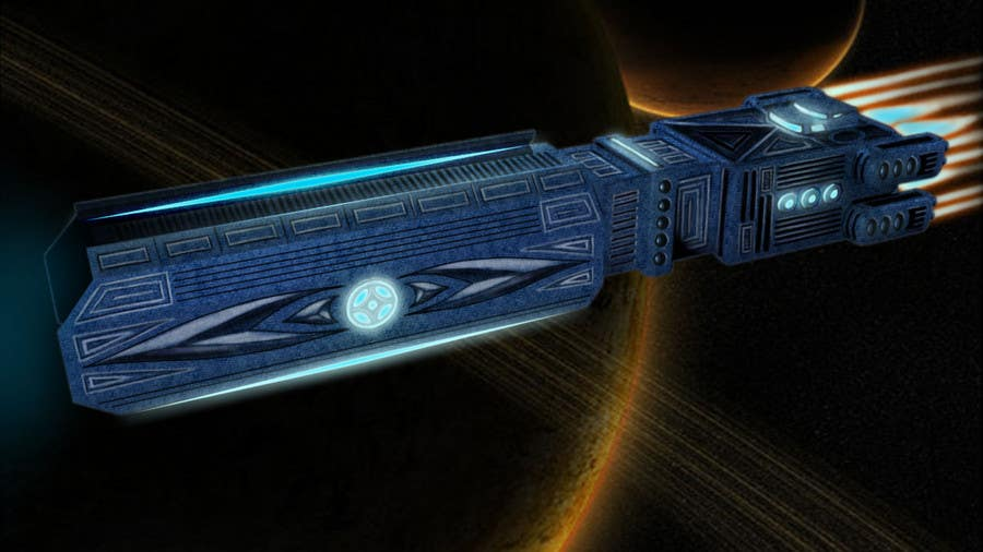 Bài tham dự cuộc thi #                                        8                                      cho                                         Concept Art for existing 3D space ship model for SciFi Game