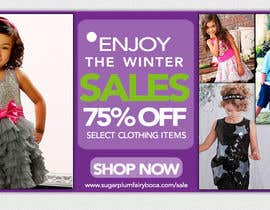 #32 for Design a Banner for a 75% off Sale for Designer Kids Clothing af marcia2