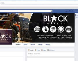 Biayi81 tarafından BlackStar.Market Facebook logo + cover için no 14