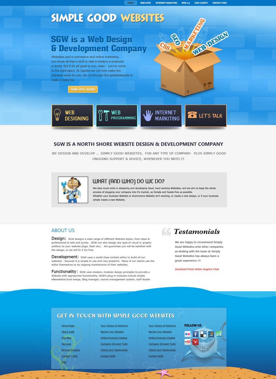 Kilpailutyö #58 kilpailussa Website Design for Simply Good Websites Ltd.