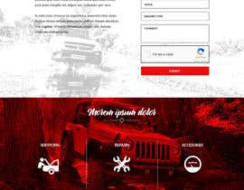 Nro 21 kilpailuun Home page and one sub page designed in PSD for Four Wheel Drive Mechanic Workshop käyttäjältä kennyamaro