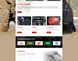 Nro 3 kilpailuun Home page and one sub page designed in PSD for Four Wheel Drive Mechanic Workshop käyttäjältä lee800154