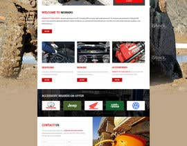 Nro 6 kilpailuun Home page and one sub page designed in PSD for Four Wheel Drive Mechanic Workshop käyttäjältä lee800154