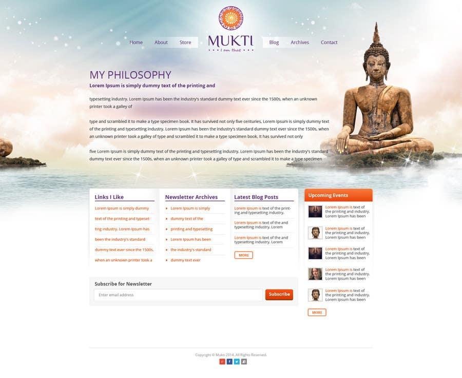 Bài tham dự cuộc thi #                                        3                                      cho                                         Design a Website Mockup for www.mukti.ca