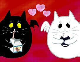 Nro 18 kilpailuun Illustrate Noir Blanc - the two little creatures -- 2 käyttäjältä Tzologeist