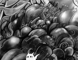 Nro 7 kilpailuun Illustrate Noir Blanc - the two little creatures -- 2 käyttäjältä unsoftmanbox