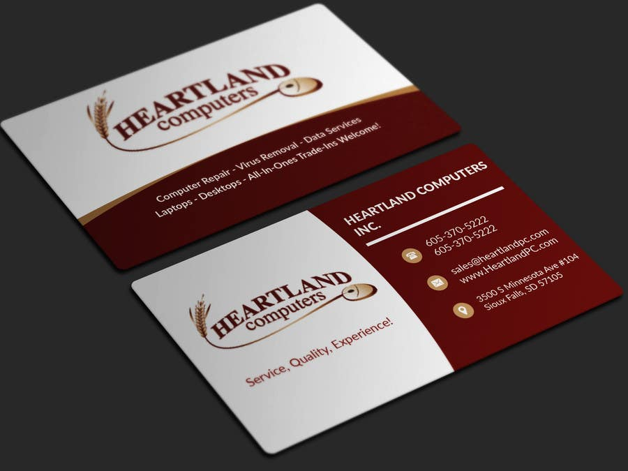 Contest Entry 301 For Business Card Design Needed Computer Company