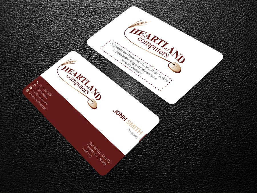Contest Entry 79 For Business Card Design Needed Computer Company