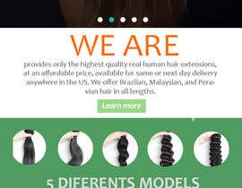 nº 2 pour Design a Website Mockup for Hair Extension business par javiermarquez