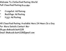 #4 cho Help me with Marketing on craigslist personal bởi Shahzaibbutt1112