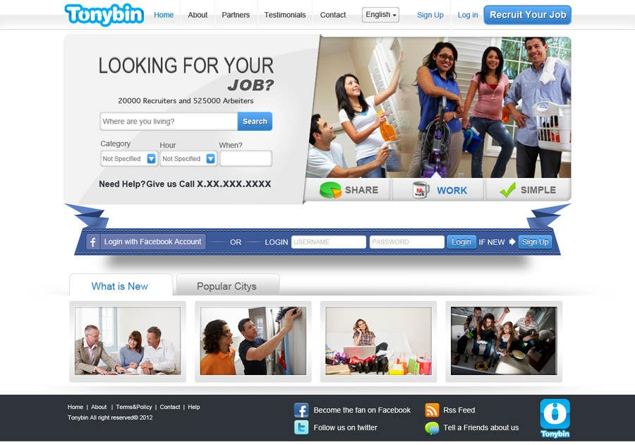 Proposition n°                                        133                                      du concours                                         Website Design for Tonybin (simple and cool designs wanted)