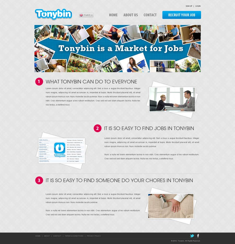 Proposition n°                                        171                                      du concours                                         Website Design for Tonybin (simple and cool designs wanted)