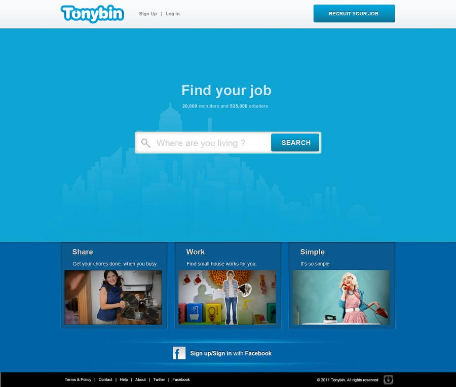 #84 for Website Design for Tonybin (simple and cool designs wanted) by tuanrobo