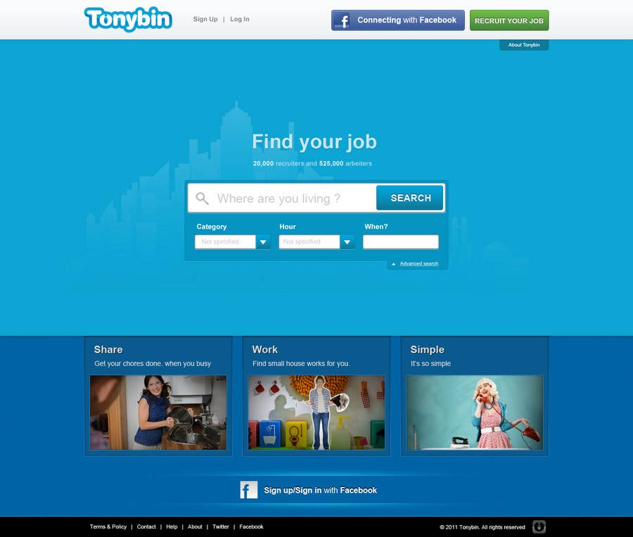 #124 for Website Design for Tonybin (simple and cool designs wanted) by tuanrobo