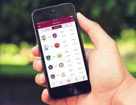 Nro 16 kilpailuun Design an App Mockup Football League app käyttäjältä Arteer