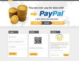 nº 8 pour Design a Website Mockup for BitCoin Website (One Page) par MagicalDesigner
