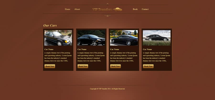 Proposition n°25 du concours Design a Website Mockup for VIP Taxi Transfers