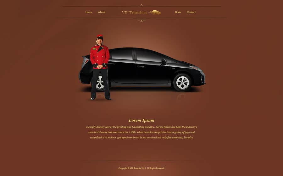 Proposition n°28 du concours Design a Website Mockup for VIP Taxi Transfers