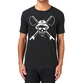 ozafebri tarafından Design a skull/fishing T-Shirt için no 33