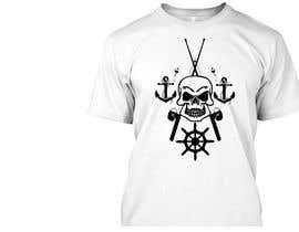 Nro 35 kilpailuun Design a skull/fishing T-Shirt käyttäjältä jojohf
