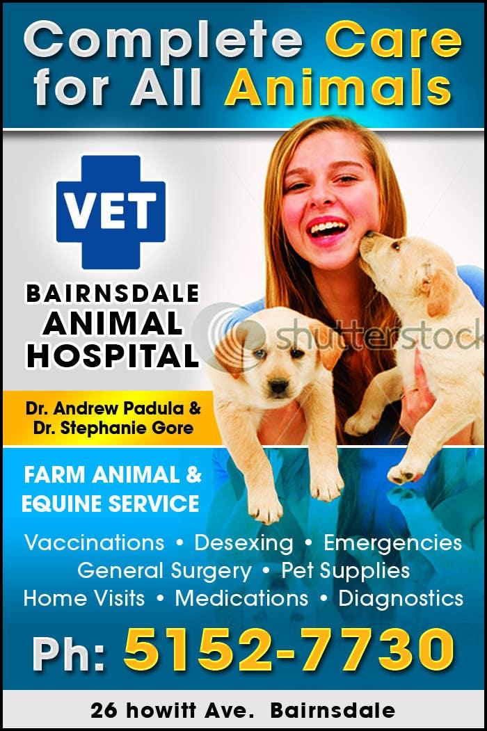 Конкурсная заявка №45 для Graphic Design for Bairnsdale Animal Hospital