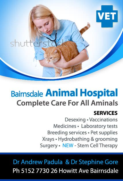 Contest Entry #27 for Graphic Design for Bairnsdale Animal Hospital
