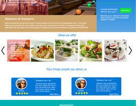 #20 for Web site mockup for restaurant and bar ( small site ) af beFreeStudio