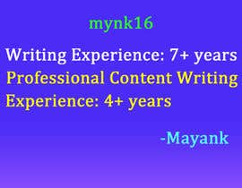 #47 for Write my site descriptions af mynk16