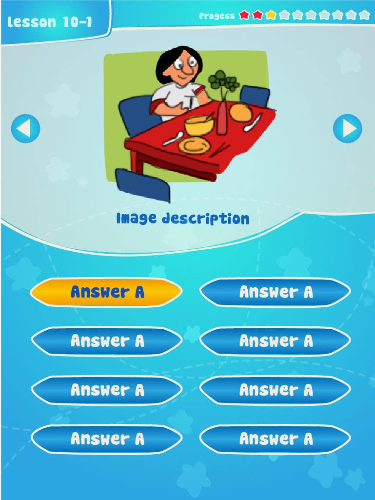 #15 for Design cartoon UI for learning app (single frame) by patlau