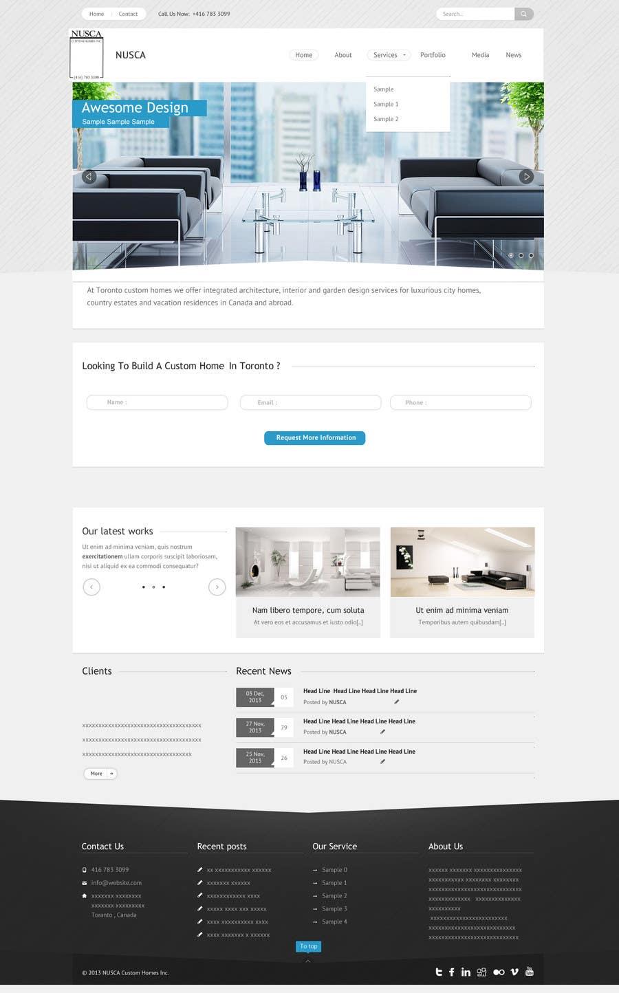 Kilpailutyö #53 kilpailussa Custom Portfolio Website Design
