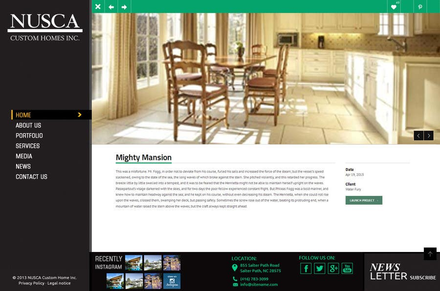 #33 for Custom Portfolio Website Design by Psynsation