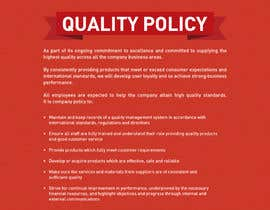 #99 for Design a Flyer for a Quality Policy Document by samazran
