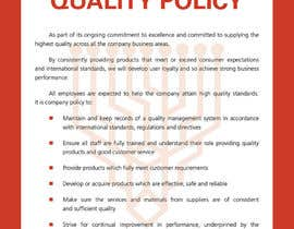 #78 for Design a Flyer for a Quality Policy Document af cnimigean