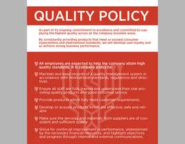 #69 for Design a Flyer for a Quality Policy Document af Spector01