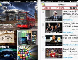 #38 for Design the User interface for a Mobile News App af cyber3c