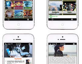 #31 for Design the User interface for a Mobile News App af sharpBD