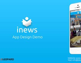 #4 for Design the User interface for a Mobile News App af eleopardstudios
