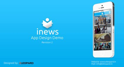 #24 for Design the User interface for a Mobile News App by eleopardstudios