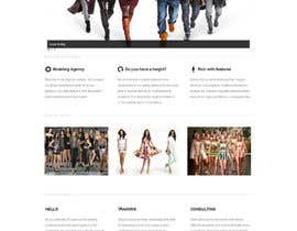 #13 para Design a Website for a Local Acting/Modeling Agency por backibreg