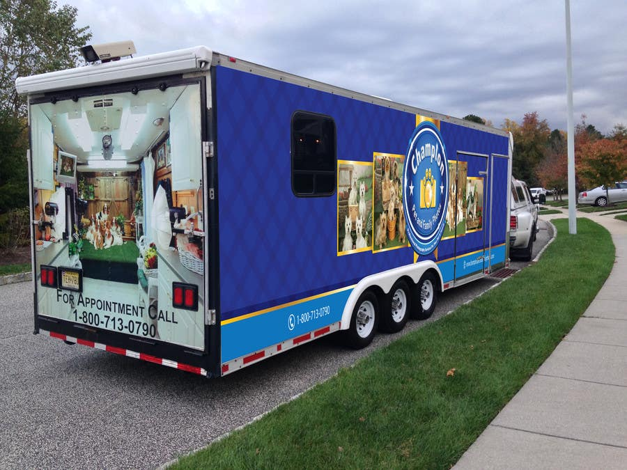 Contest Entry #                                        17                                      for                                         Design A 3 Side Trailer Wrap for Mobile Pet and Family Photography