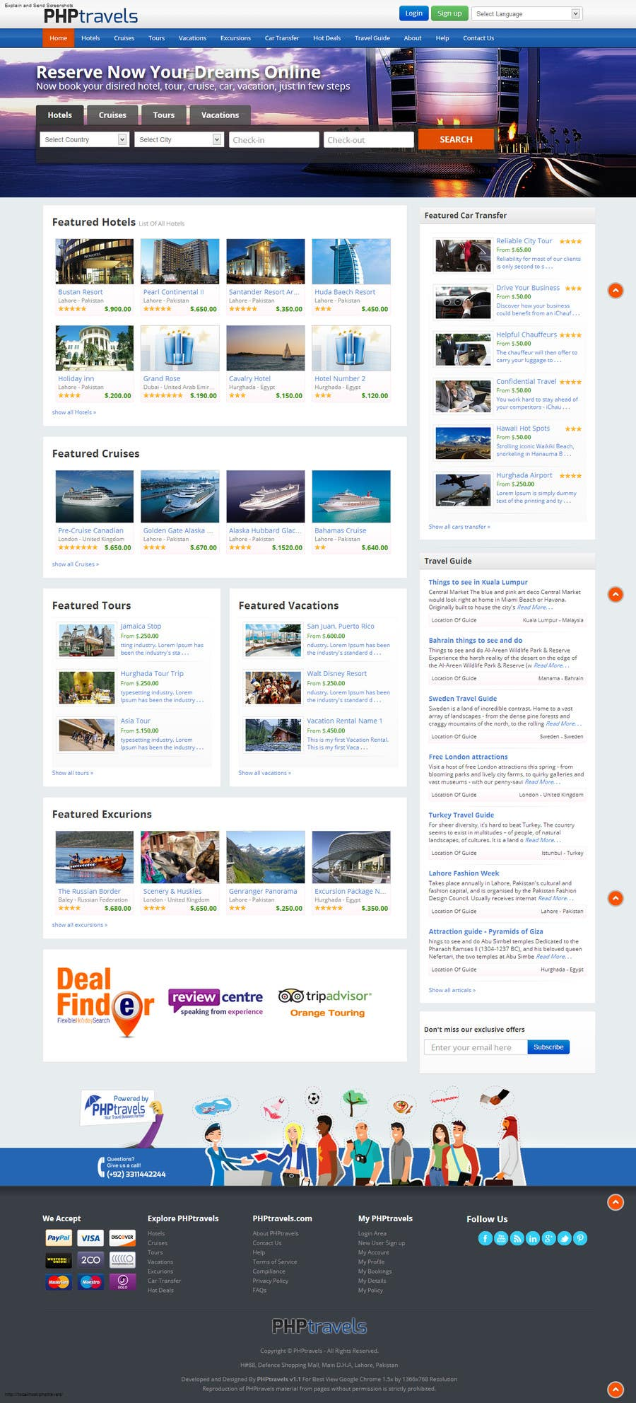 #11 for Design a Website Mockup for adventure travel booking website by dreamst0ch