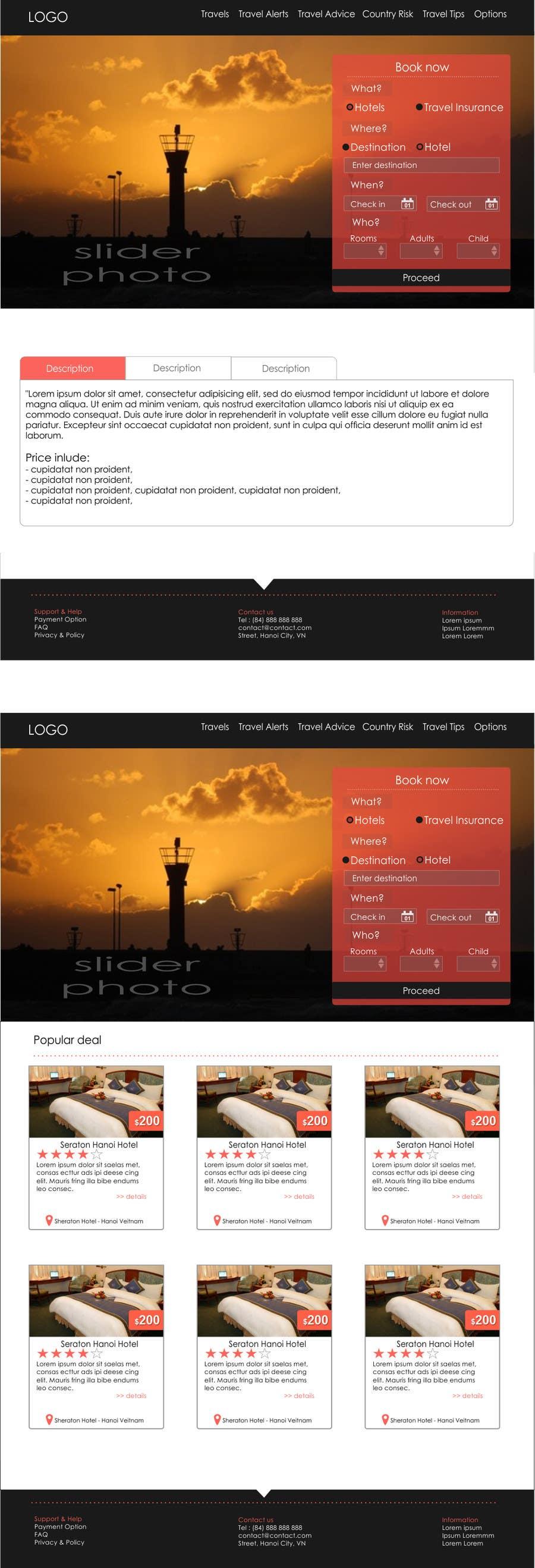#1 for Design a Website Mockup for adventure travel booking website by kropekk
