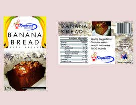 #62 for Banana bread packaging label design by saikodelicat