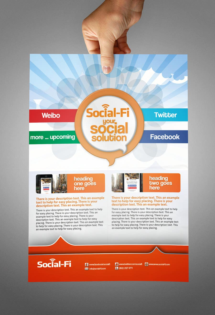 #22 for 48 Hour Design Flyer for Social Wi-fi by abdelaalitou