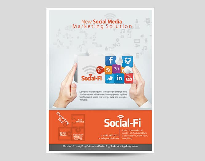 #27 for 48 Hour Design Flyer for Social Wi-fi by graphics15