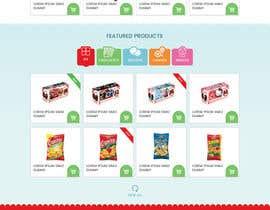 creative223 tarafından Design creative website mock up for a snacks shop için no 31