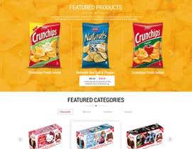 adixsoft tarafından Design creative website mock up for a snacks shop için no 21