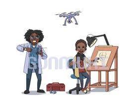 Nro 26 kilpailuun Cartoon Professional Kid Character - what I want to be käyttäjältä gonmuki